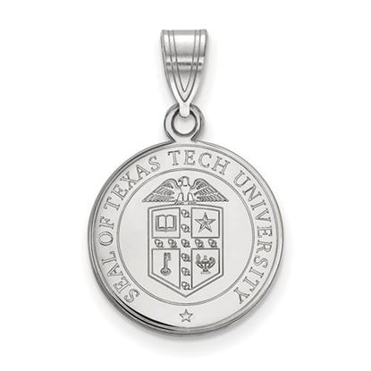 Picture of Texas Tech University Red Raiders Sterling Silver Medium Crest Pendant