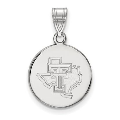 Picture of Texas Tech University Red Raiders Sterling Silver Medium Pendant