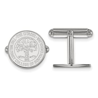 Picture of The Citadel Bulldogs Sterling Silver Crest Cuff Links