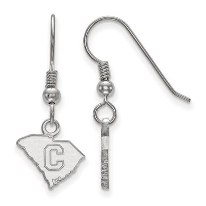 Picture of The Citadel Bulldogs Sterling Silver Extra Small Dangle Earrings