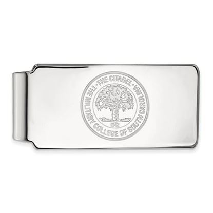 Picture of The Citadel Bulldogs Sterling Silver Crest Money Clip