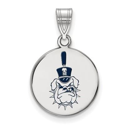 Picture of The Citadel Bulldogs Sterling Silver Medium Enameled Disc Pendant