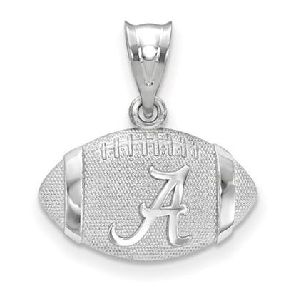 Picture of University of Alabama Crimson Tide Sterling Silver 3D Football Logo Pendant