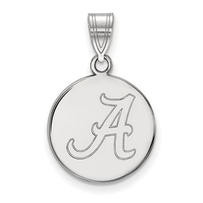 Picture of University of Alabama Crimson Tide Sterling Silver Medium Disc Pendant