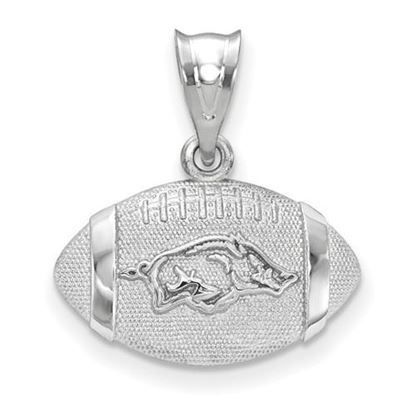 Picture of University of Arkansas Razorbacks Sterling Silver Football Pendant