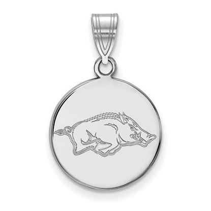 Picture of University of Arkansas Razorbacks Sterling Silver Medium Disc Pendant