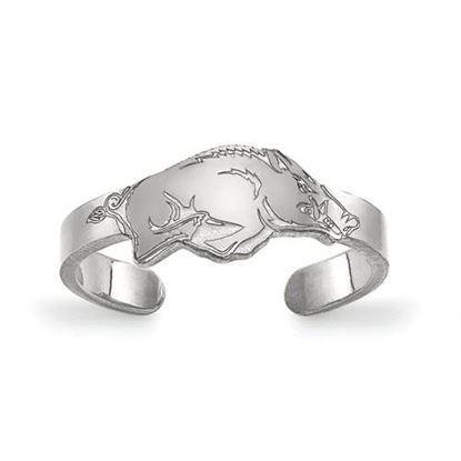 Picture of University of Arkansas Razorbacks Razorbacks Sterling Silver Toe Ring