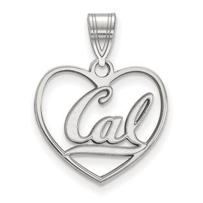 Picture of University of California Berkeley Golden Bears Sterling Silver Heart Pendant