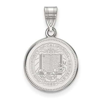 Picture of University of California Berkeley Golden Bears Sterling Silver Medium Crest Pendant