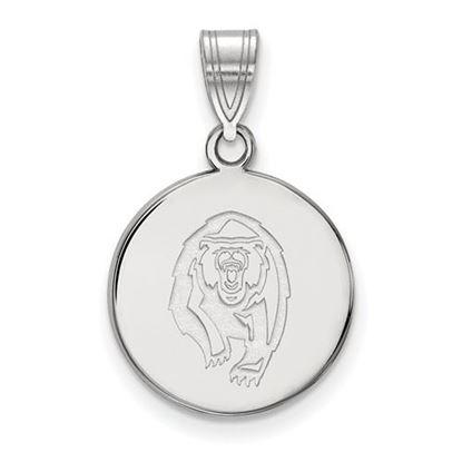 Picture of University of California Berkeley Golden Bears Sterling Silver Medium Disc Pendant