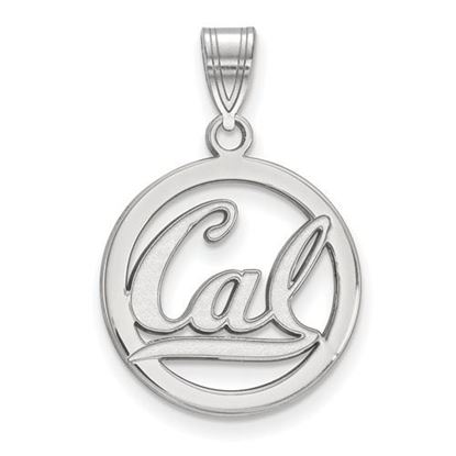 Picture of University of California Berkeley Golden Bears Sterling Silver Small Circle Pendant