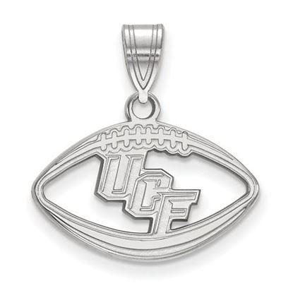 Picture of University of Central Florida Knights Sterling Silver Football Pendant