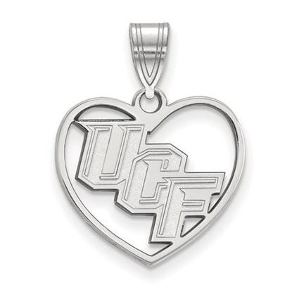 Picture of University of Central Florida Knights Sterling Silver Heart Pendant
