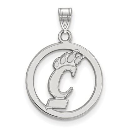 Picture of University of Cincinnati Bearcats Sterling Silver Small Circle Pendant