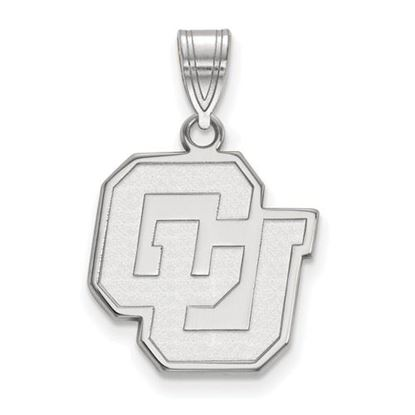 Picture of University of Colorado Buffaloes Sterling Silver Medium Pendant