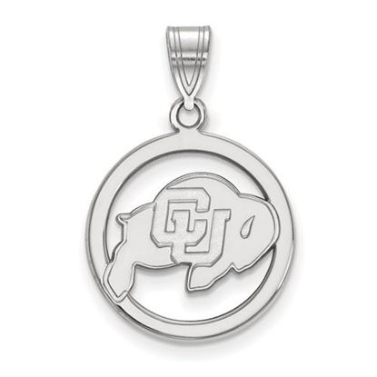 Picture of University of Colorado Buffaloes Sterling Silver Small Circle Pendant
