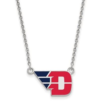 Picture of University of Dayton Flyers Sterling Silver Small Enameled Necklace