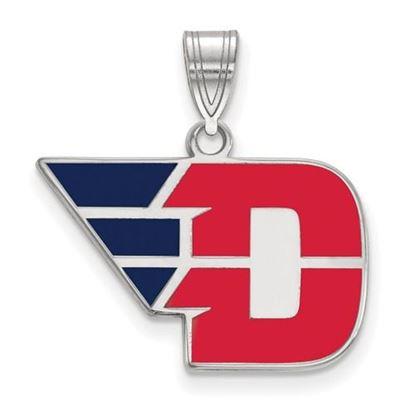 Picture of University of Dayton Flyers Sterling Silver Medium Enameled Pendant