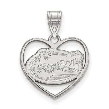Picture of University of Florida Gators Sterling Silver Heart Pendant