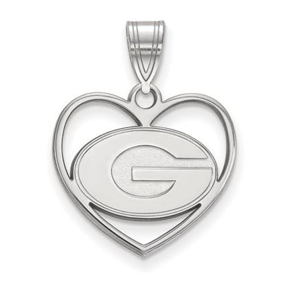 Picture of University of Georgia Bulldogs Sterling Silver Heart Pendant