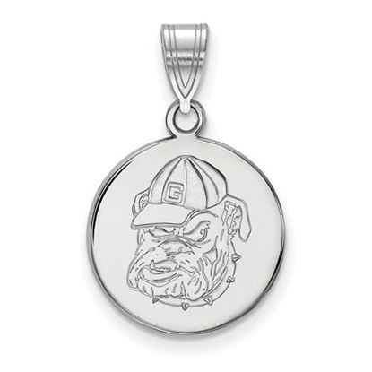 Picture of University of Georgia Bulldogs Sterling Silver Medium Pendant