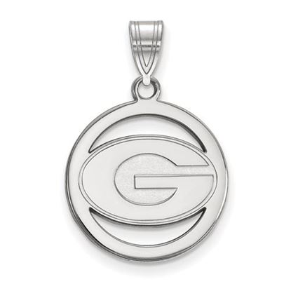 Picture of University of Georgia Bulldogs Sterling Silver Small Circle Pendant