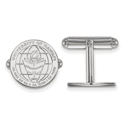 Picture of University of Hawaii Rainbow Warriors Sterling Silver Crest Cuff Links