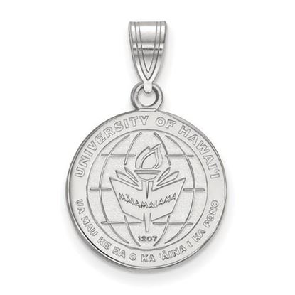 Picture of University of Hawaii Rainbow Warriors Sterling Silver Medium Crest Pendant