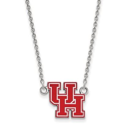 Picture of University of Houston Cougars Sterling Silver Small Enameled Necklace