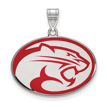 Picture of University of Houston Cougars Sterling Silver Large Enameled Pendant