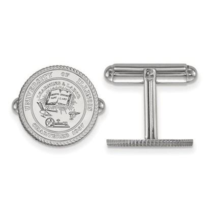 Picture of University of Illinois Fighting Illini Sterling Silver Crest Cuff Links