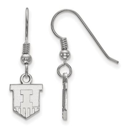 Picture of University of Illinois Fighting Illini Sterling Silver Extra Small Dangle Earrings