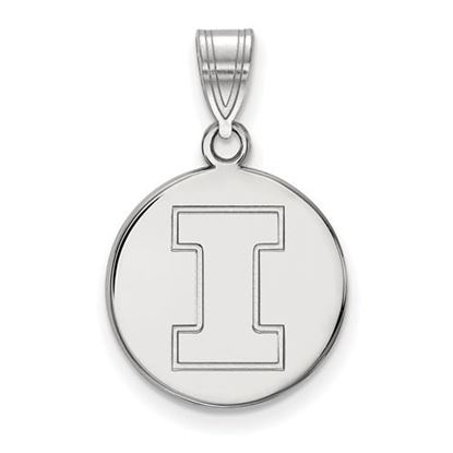 Picture of University of Illinois Fighting Illini Sterling Silver Medium Disc Pendant