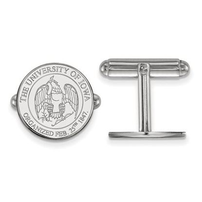 Picture of University of Iowa Hawkeyes Sterling Silver Crest Cuff Links