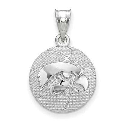 Picture of University of Iowa Sterling Silver Basketball Pendant