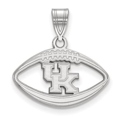 Picture of University of Kentucky Wildcats Sterling Silver Football Pendant