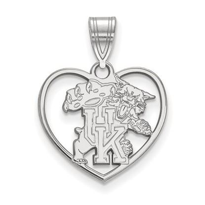 Picture of University of Kentucky Wildcats Sterling Silver Heart Pendant