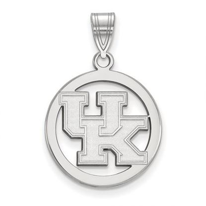Picture of University of Kentucky Wildcats Sterling Silver Small Circle Pendant