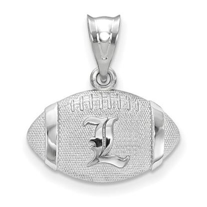 Picture of University of Louisville Cardinals Sterling Silver Football Pendant