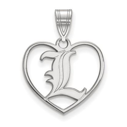 Picture of University of Louisville Cardinals Sterling Silver Heart Pendant