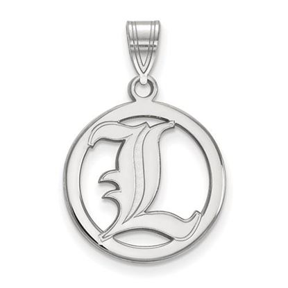 Picture of University of Louisville Cardinals Sterling Silver Small Circle Pendant