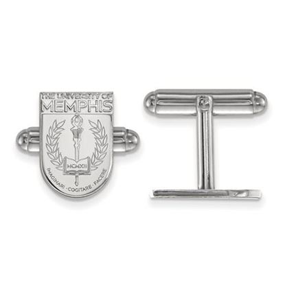 Picture of University of Memphis Tigers Sterling Silver Crest Cuff Links
