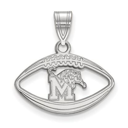 Picture of University of Memphis Tigers Sterling Silver Football Pendant
