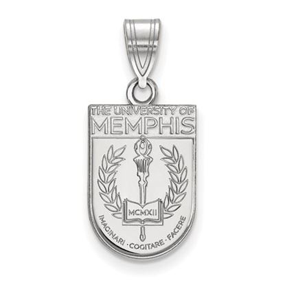 Picture of University of Memphis Tigers Sterling Silver Medium Crest Pendant