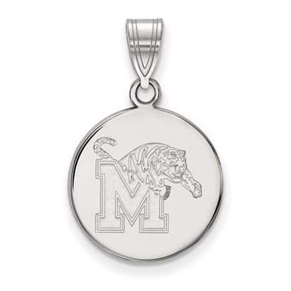 Picture of University of Memphis Tigers Sterling Silver Medium Disc Pendant