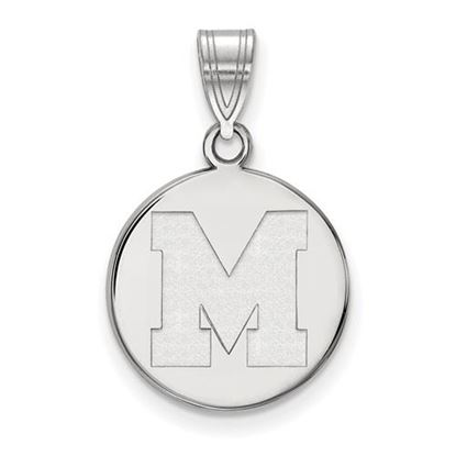 Picture of University of Memphis Tigers Sterling Silver Medium Pendant