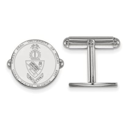 Picture of University of Miami Hurricanes Sterling Silver Crest Cuff Links