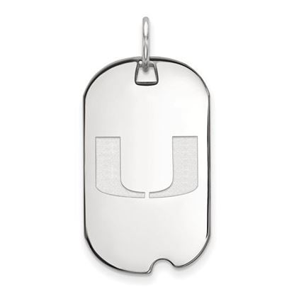 Picture of University of Miami Hurricanes Sterling Silver Small Dog Tag