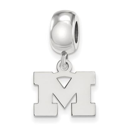 Picture of University of Michigan Wolverines Sterling Silver Extra Small Dangle Bead Charm