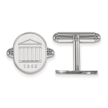 Picture of University of Mississippi Rebels Sterling Silver Crest Cuff Links